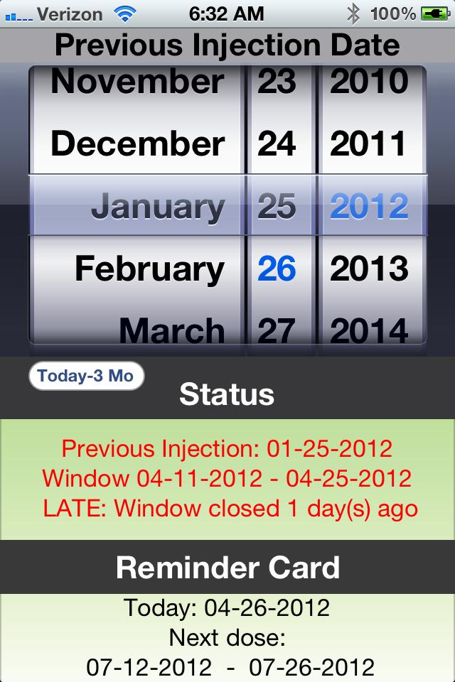 D Calc – App Store Depo Calendar Given Today