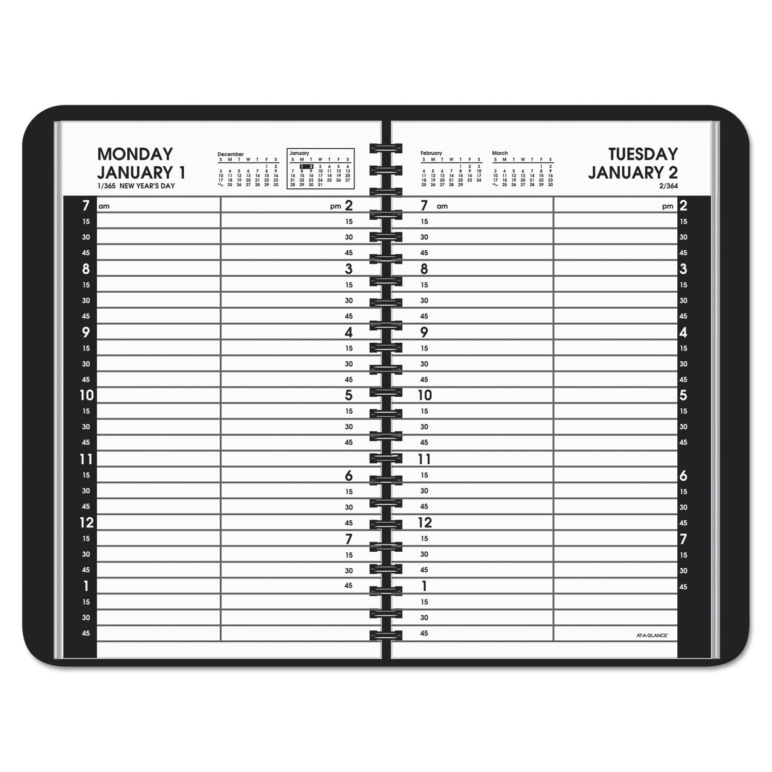 Daily Appointment Book With 15 Minute Appointmentsat A 5 1/2 X 8 1/2 Page Daily Calendar Template Editable