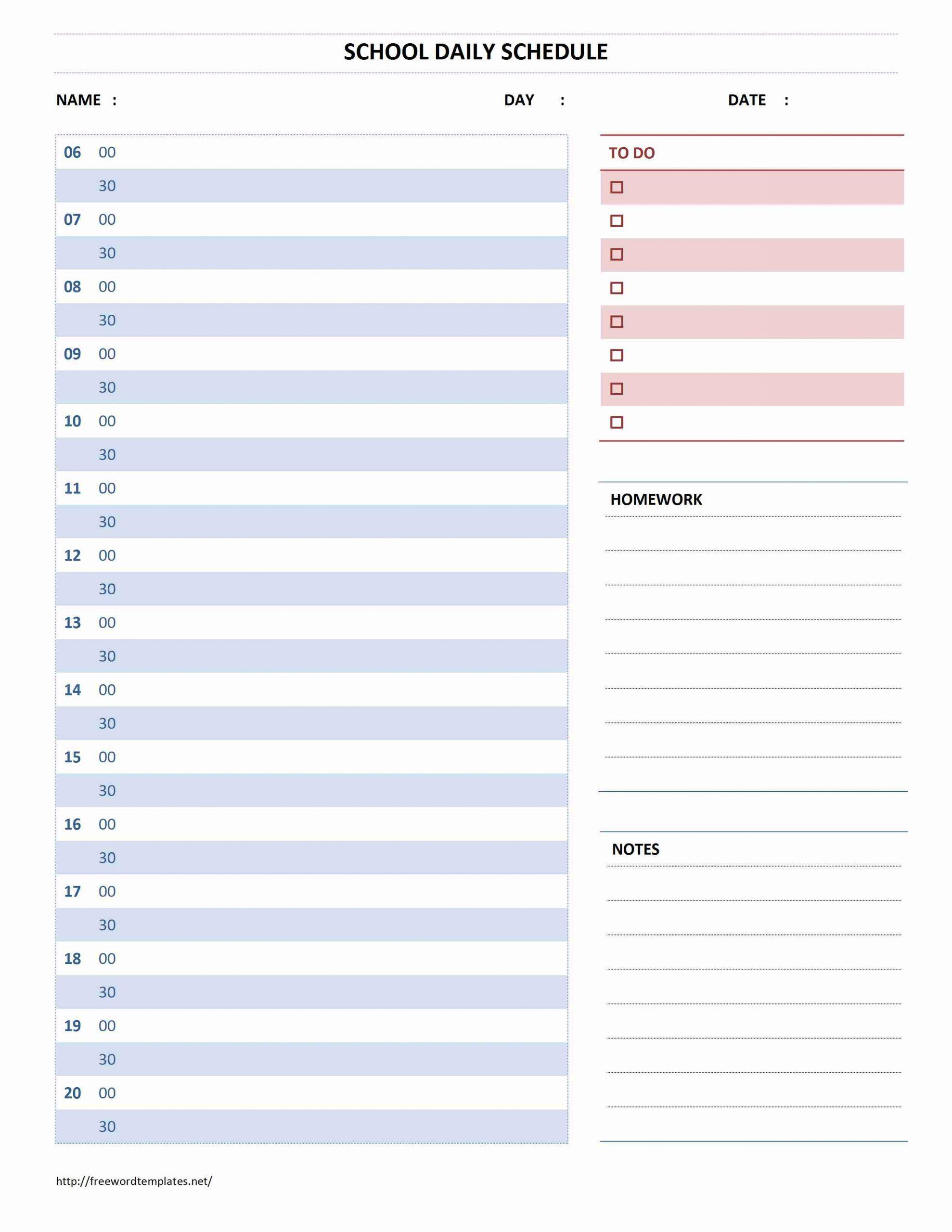 Daily Calendar Template Microsoft Word   Daily Calendar One Day Hourly Calendar Free Printable
