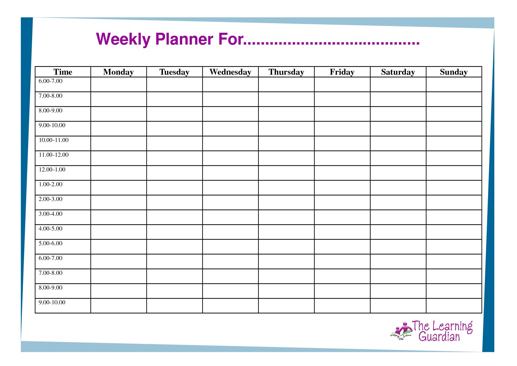 Daily Hourly Calendar Template Free | Daily Calendar Printable Hourly Schedule Free