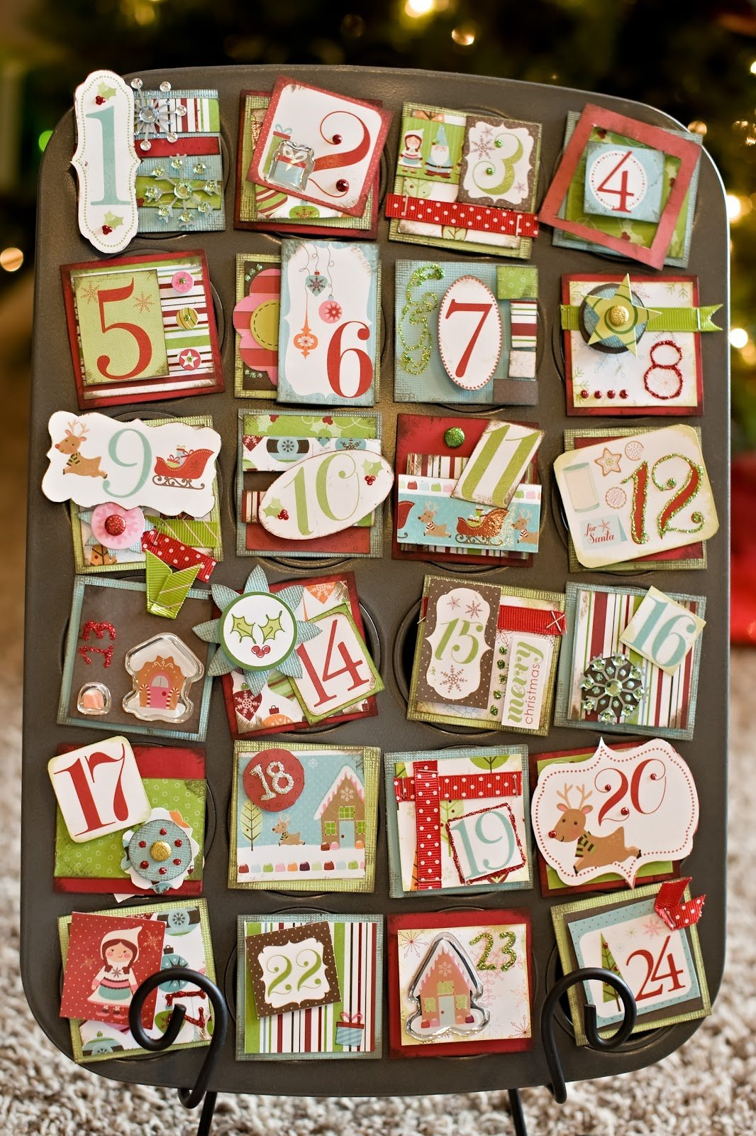 Darin. Jessie. Nora.: Muffin Pan Advent Calendar How To Make Mini Calendars Of Only Monday To Friday