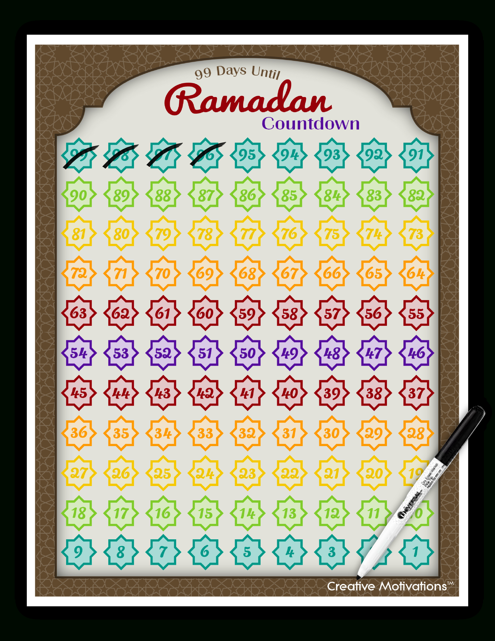 Day 21: Al Wahhaab – The Giver Of Gifts, The Bestower Ramadan Countdown Free Printable