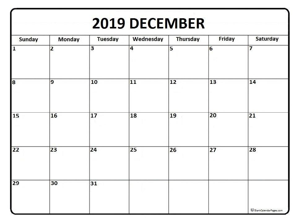 December 2019 Calendar . December 2019 Calendar Printable Printable Full Size 8 X 11 Calander