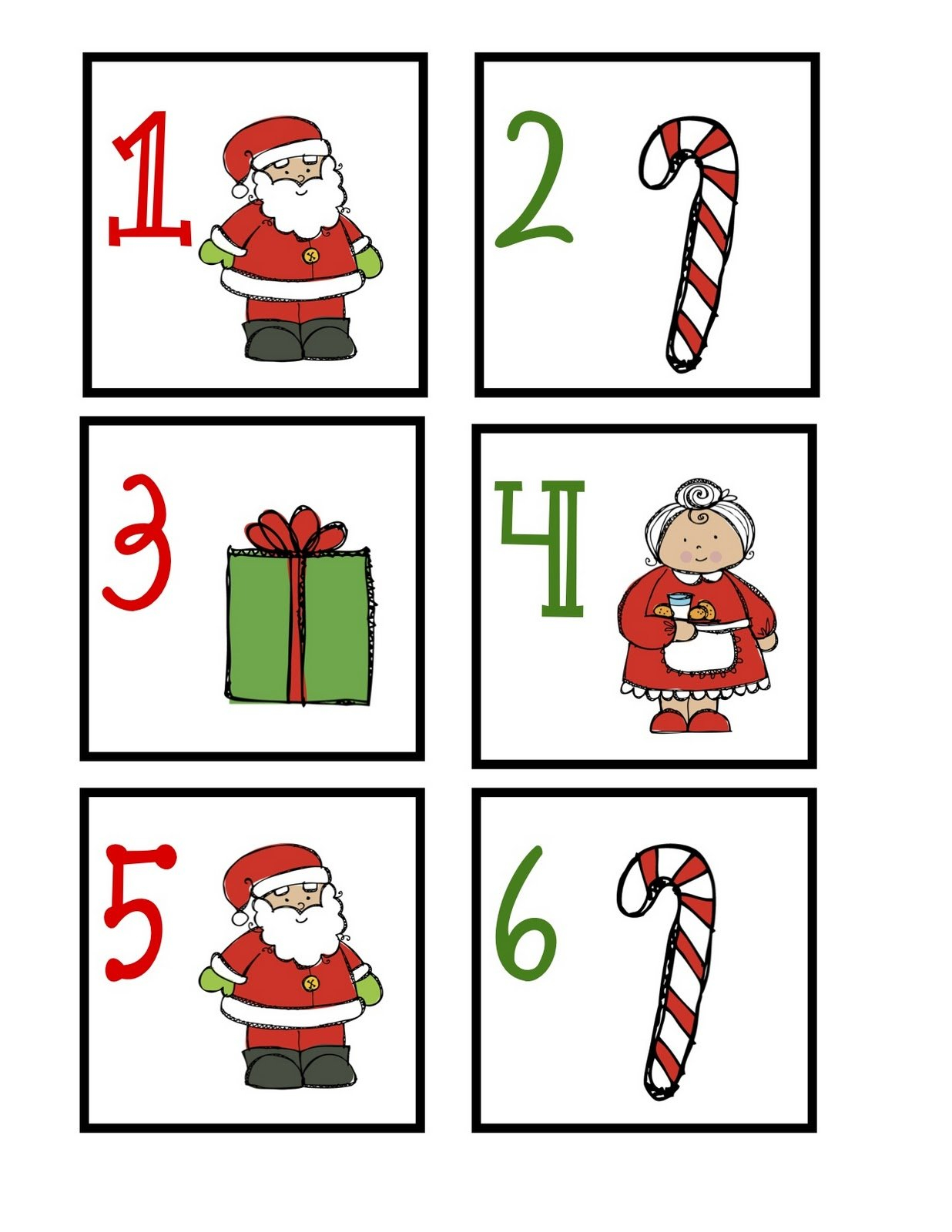 December Calendar Card Freebie – Classroom Freebies Free Calendar With Number Cards