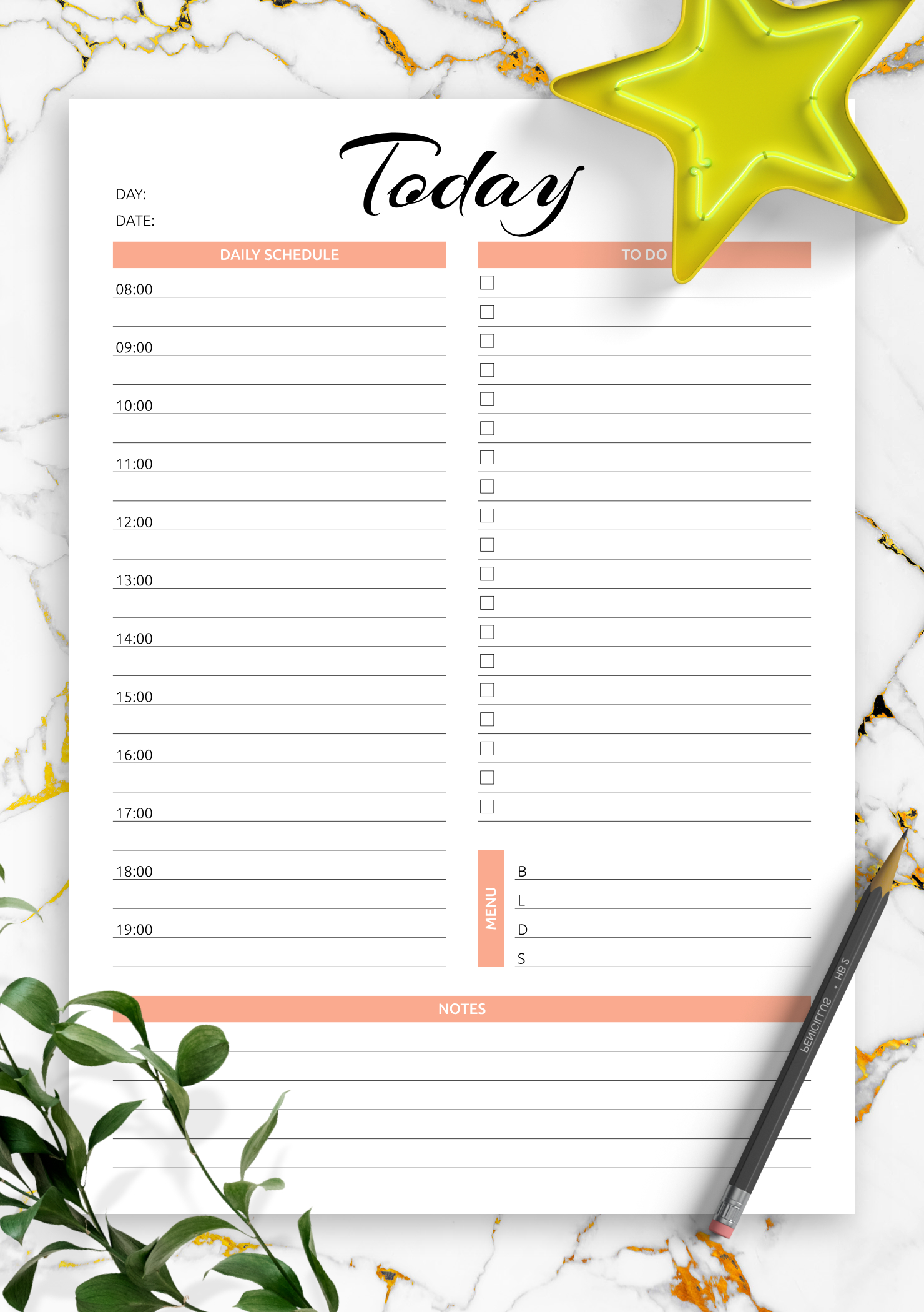 Download Printable Today Hourly Planner Pdf Daily Calendar By Hour