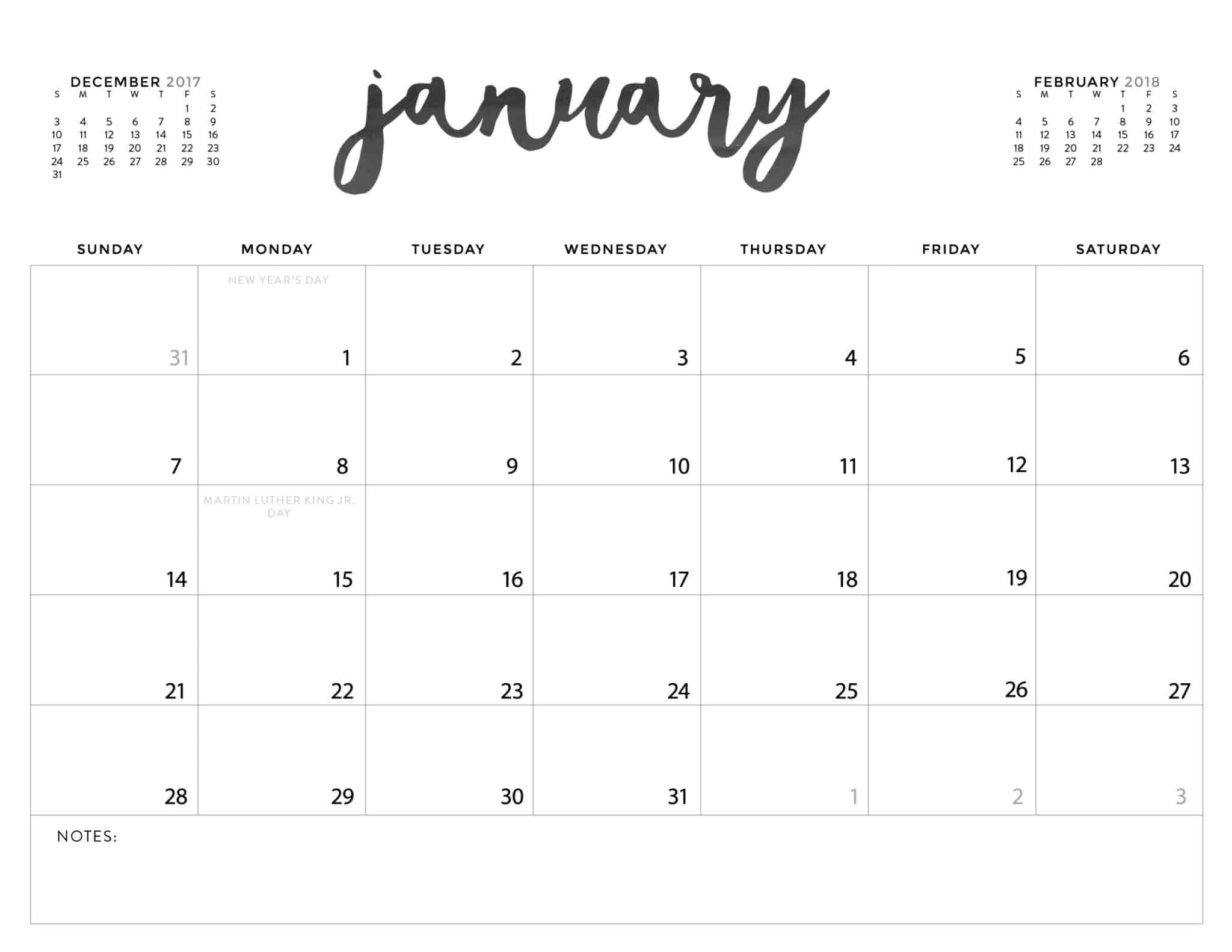 Download Your Free 2018 Printable Calendars Today! There Free Fill In Printable Calendars