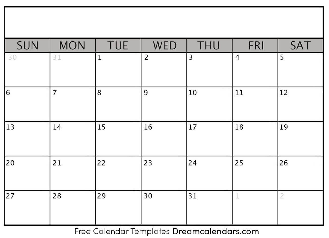 Dream Calendars – Make Your Calendar Template Blog Printable Blank Numbered List Up To 31