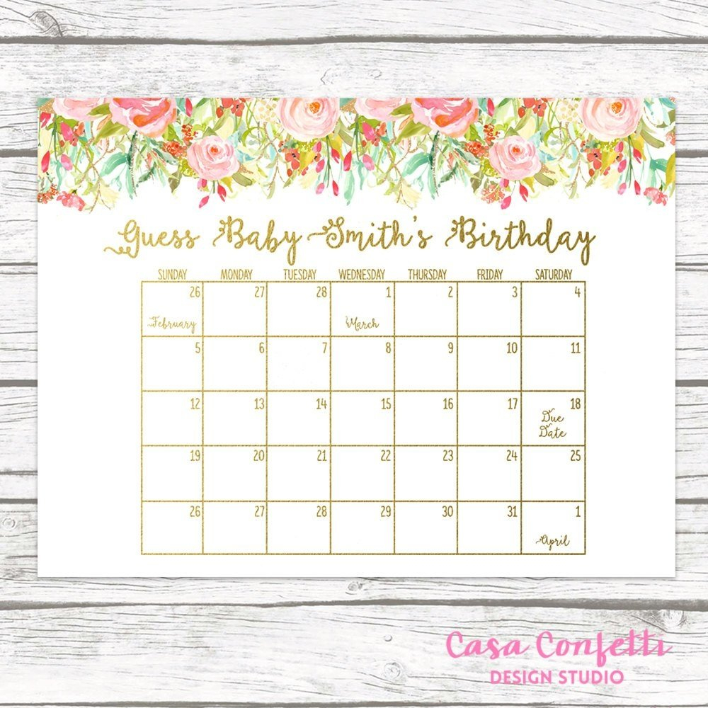 Due Date Calendar | Qualads Guess Due Date Calander