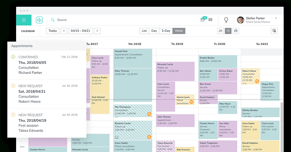 Easily Manage Your Appointments With Shore's Online Calendar Free Reservation Calendar For Website
