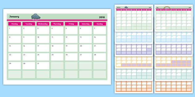 Editable Calendar – Editable, Calendar, Edit, Year, Months 2 Week Activity Calendar Editable