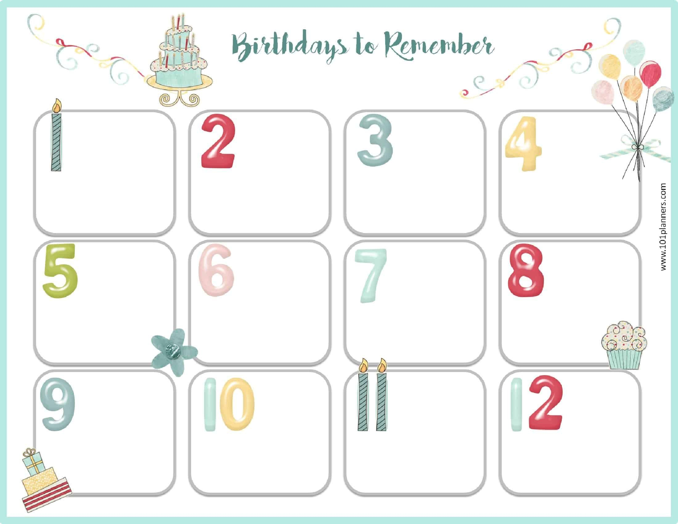 Edited Birthday Calendar Template   Calendar Template Editable Birthday Calendar Template Free