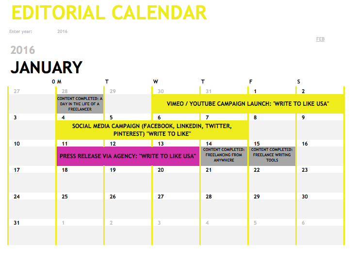 Editorial Calendars: Perspectives From Industry Experts Newsletter Calendar Template Excel