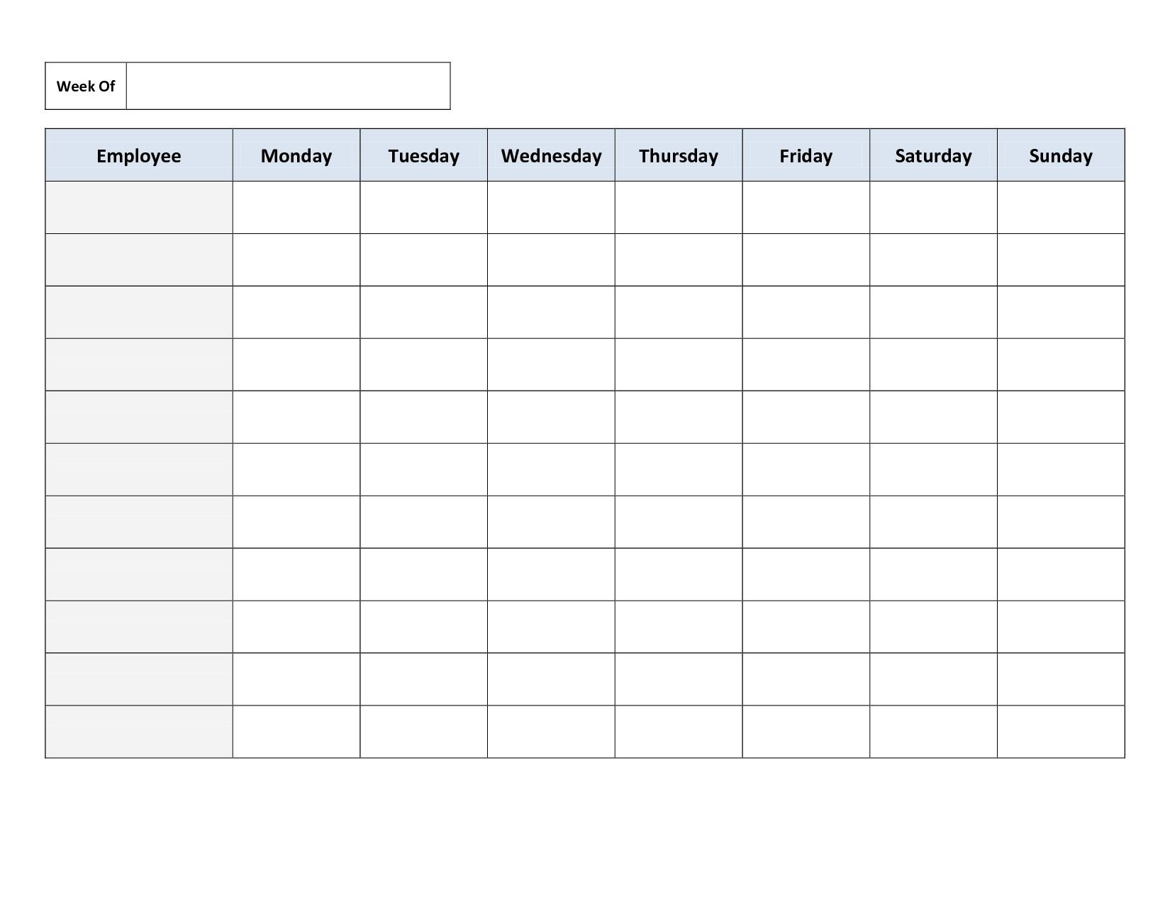 Effective Printable Fill In Schedule In 2020 | Cleaning Free Fill In Weekly Schedule
