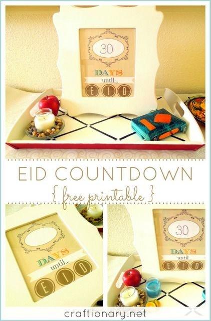 Eid Countdown (Ramadan Free Printable)   Ramadan Crafts Ramadan Countdown Free Printable