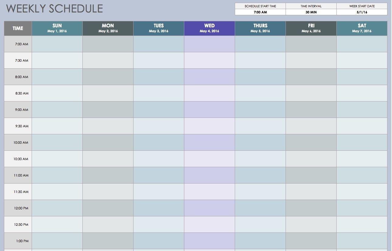 Excel 15 Minute Schedule Template Yeniscaleco Printable Blank Printabel Daily/Weekly Meeting Schedule