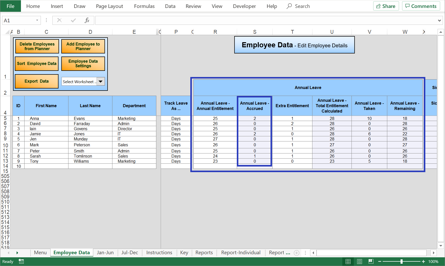 Excel Holiday Planner – Staff Holiday Management Time Off Calendar In Excel