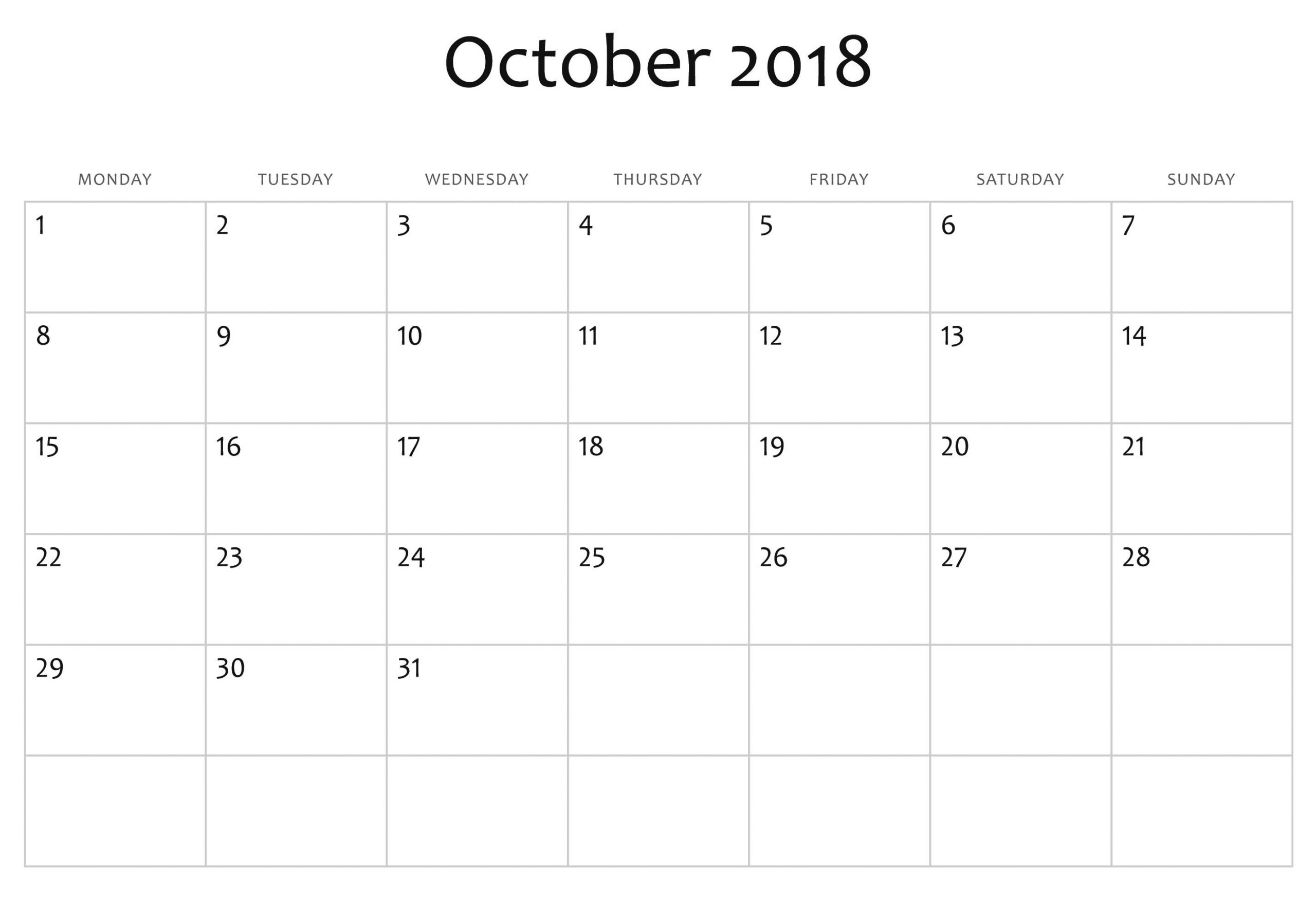 Exceptional Blank Calendar You Can Edit In 2020   Blank Printable Calendar You Can Edit