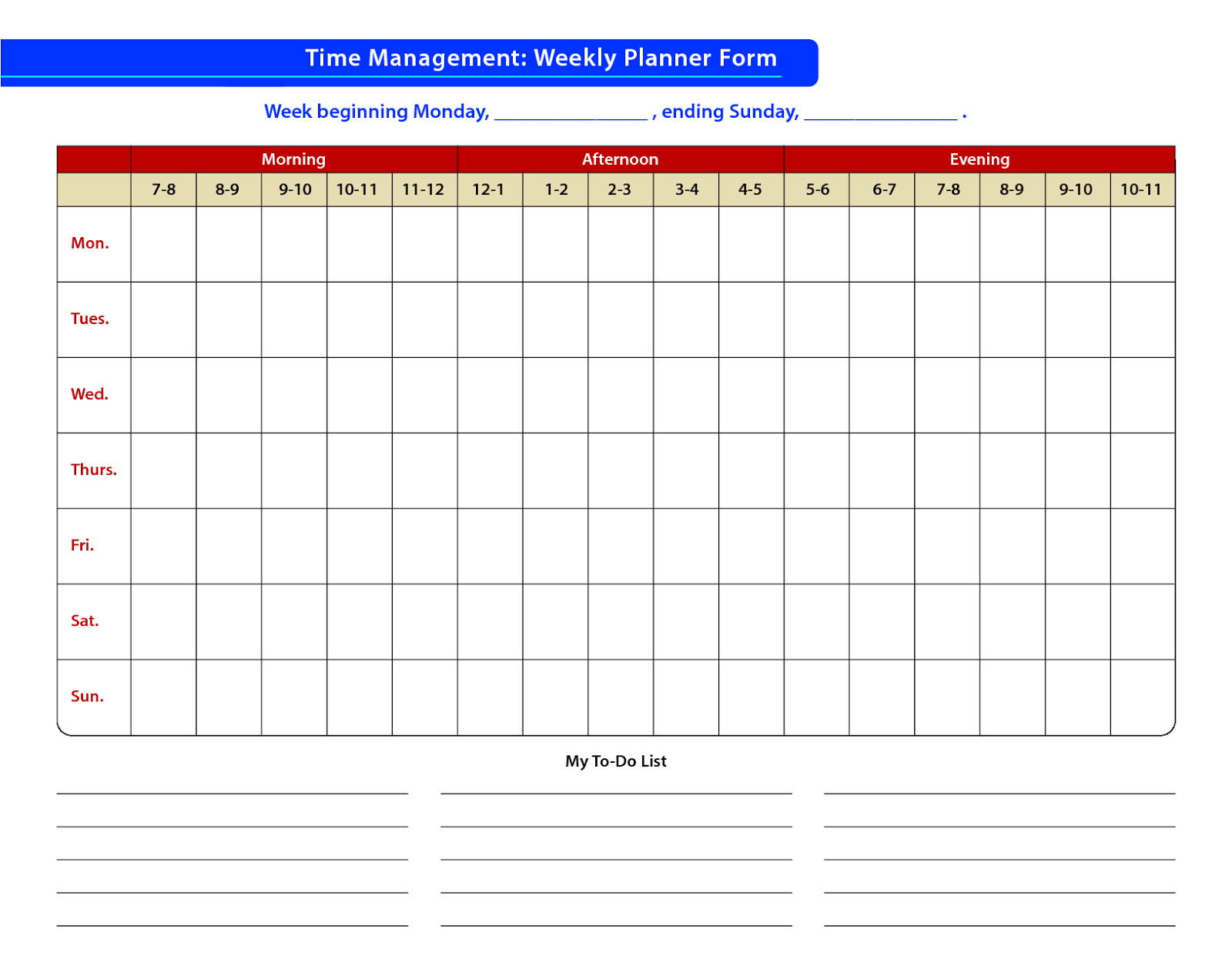 Faudzil.blogspot: Time Management – Sample Of Time Free Templates For Time Management