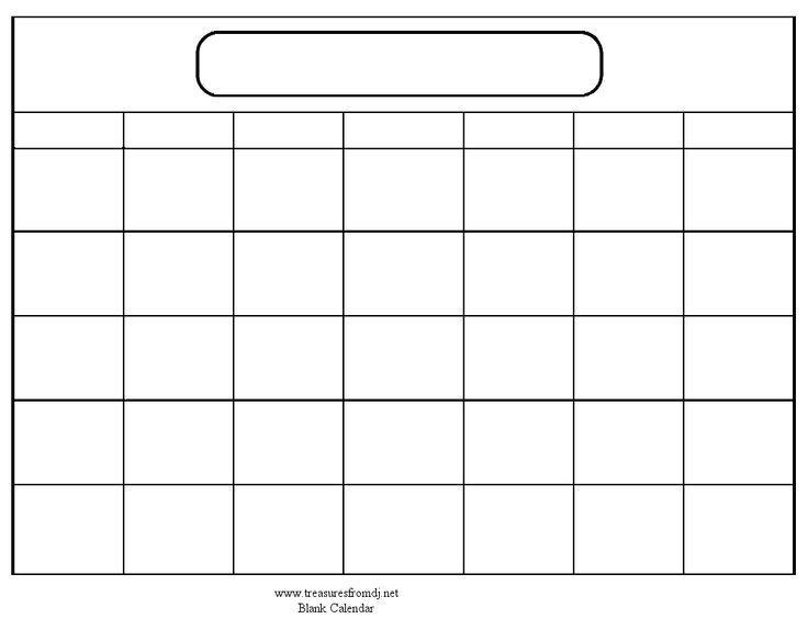 Fill In And Print Calendar : Free Calendar Template Fill In A Calendar