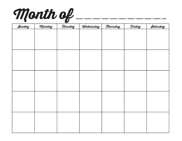 Fill In And Print Calendar : Free Calendar Template How To Fill In Calendar & Print