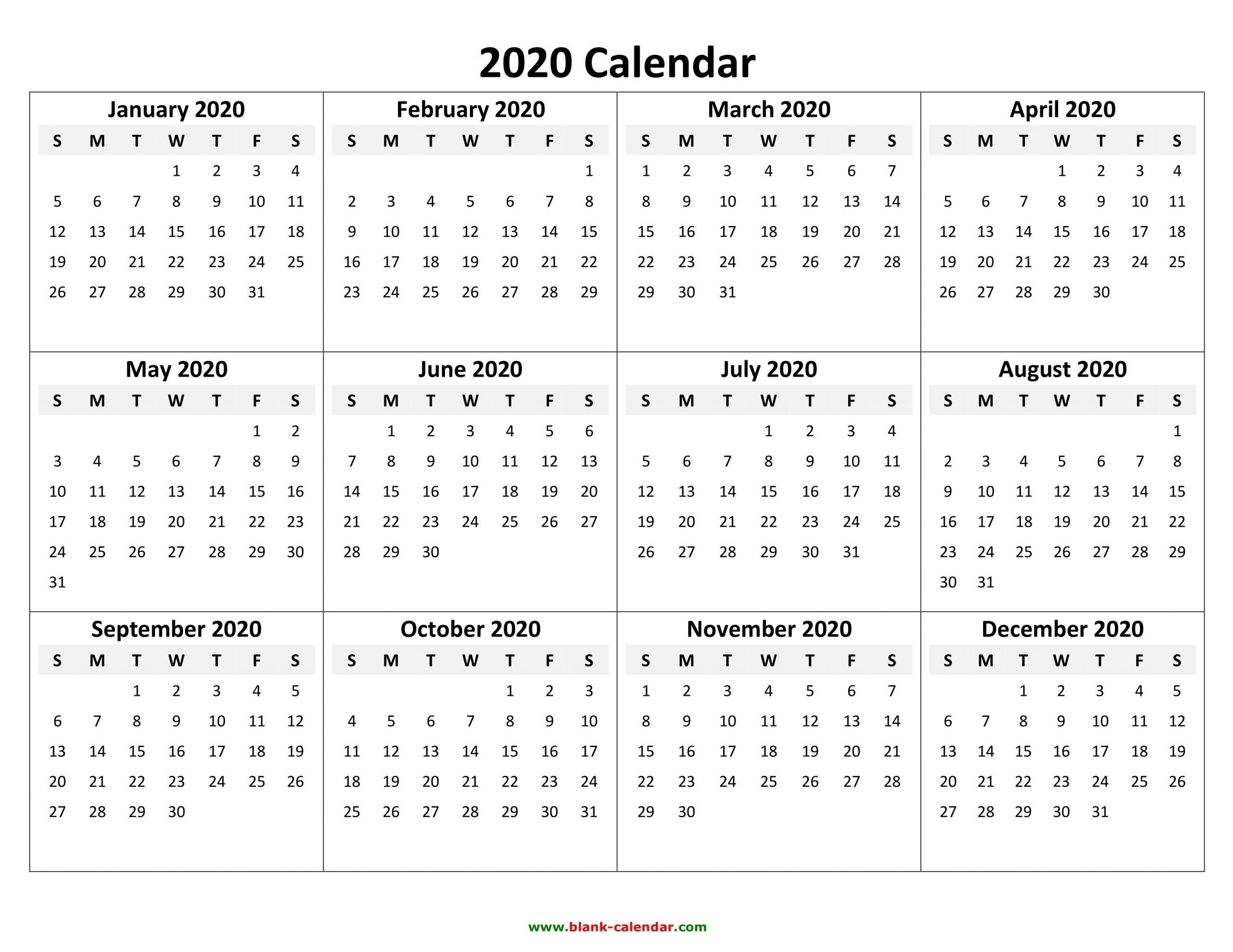 Fill In Calendar Template 2020   Calendar Template Printable Calendars To Fill In And Print