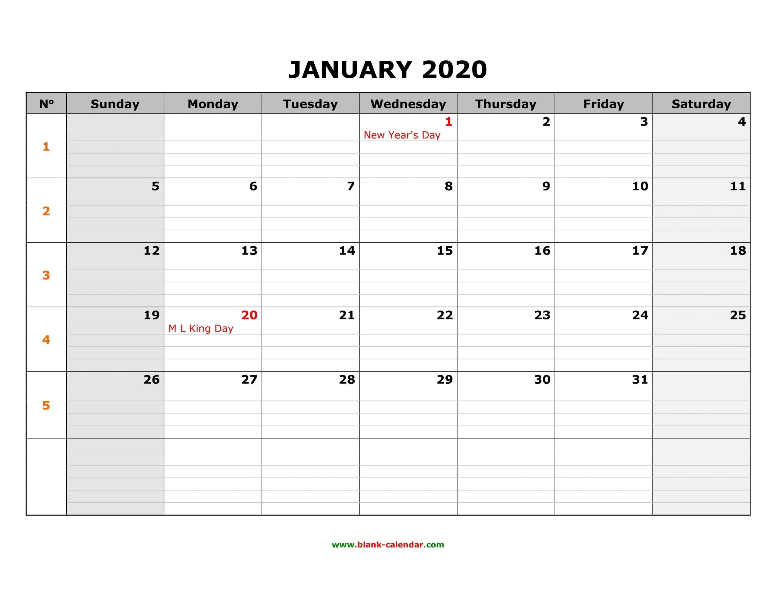 Fill In Monthly Calendar 2020   Calendar Template Printable Free Fill In Calendars