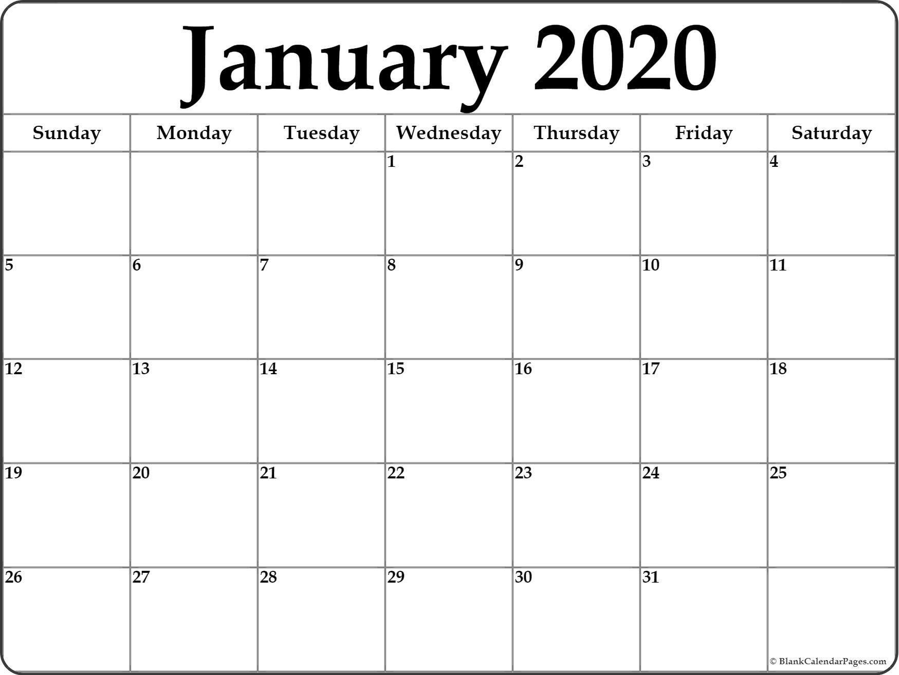Fill In Monthly Calendar 2020   Calendar Template Printable Free Printable Fill In Calendars