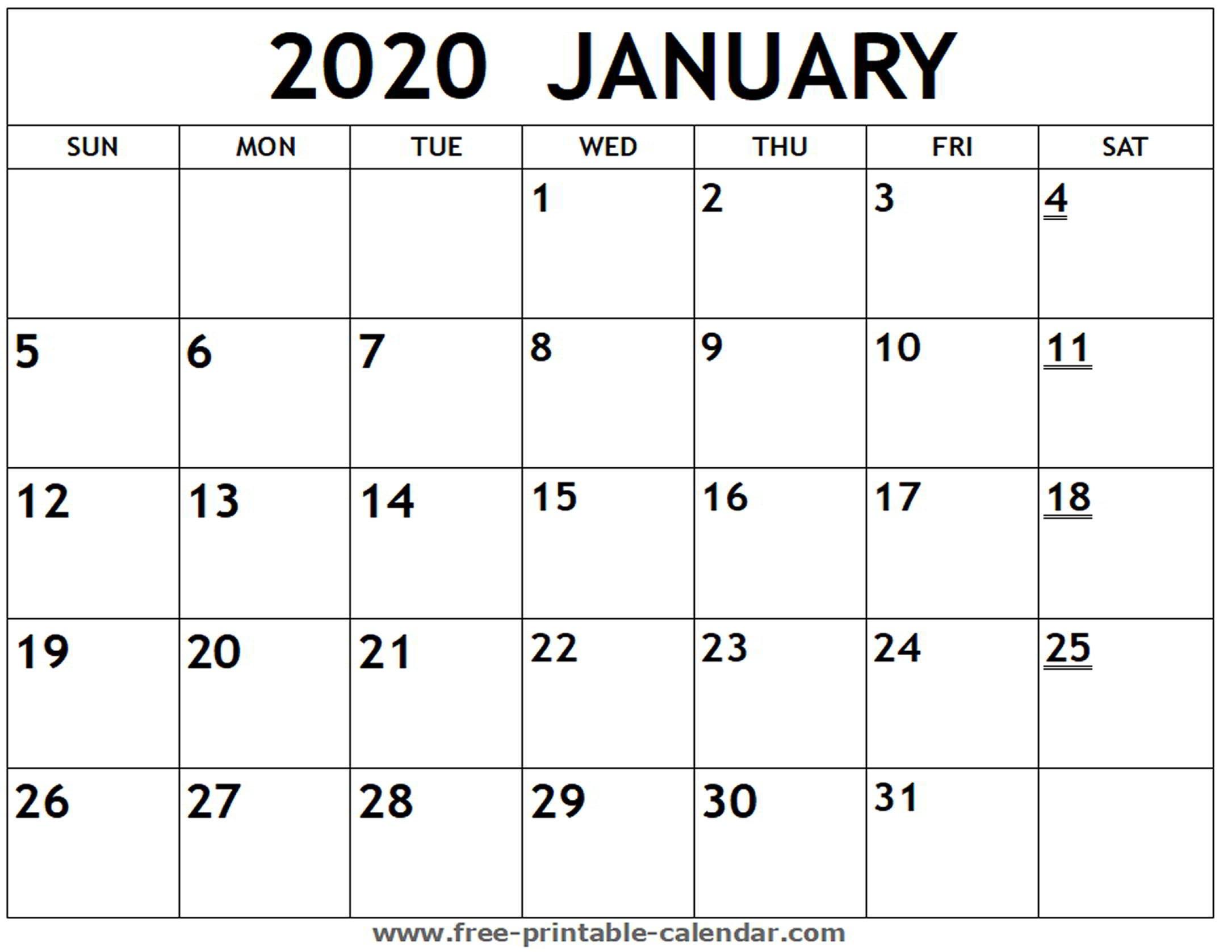 Fill In Printable Calendar 2020 Monthly | Calendar Printable Calendar Monthly Fill In