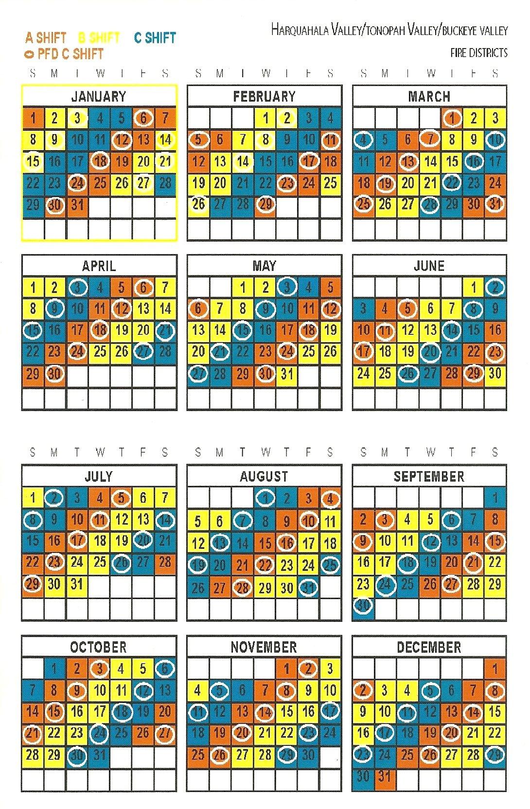 Firefighter 24/96 Shift Calendars | Calendar Printable Free Firefighter Shift Schedule Tool