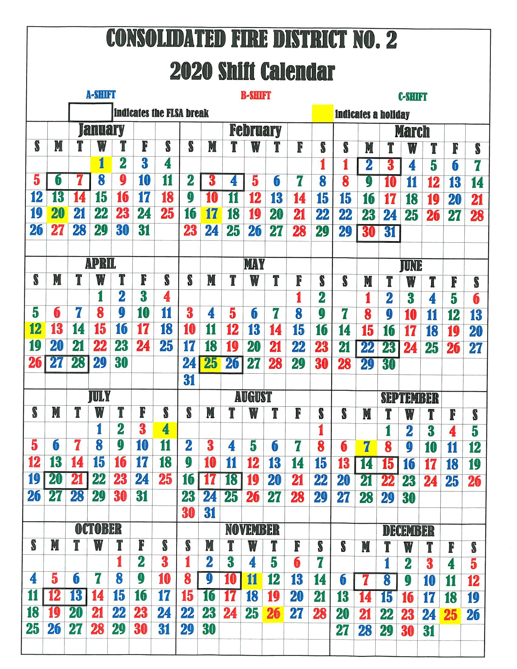 Firefighter Shift Calendar 2020 – Wpa.wpart.co For Firefighter Shift Schedule Tool