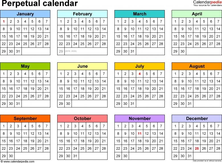 Five Year Calendar Excel : Free Calendar Template 5 Year Calendar Template