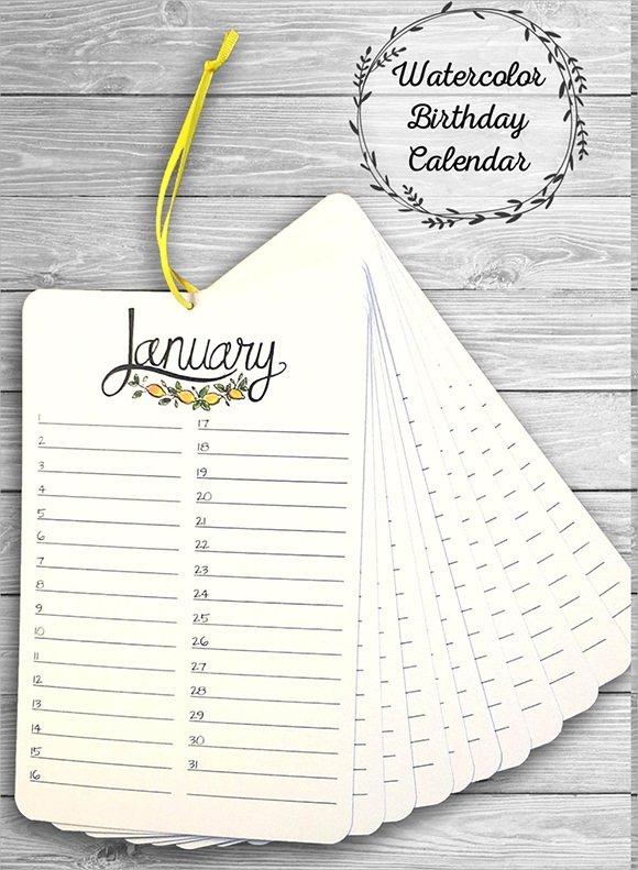 Free 14+ Birthday Calendar Templates In Google Docs   Ms Printable Birthday Calendar Free