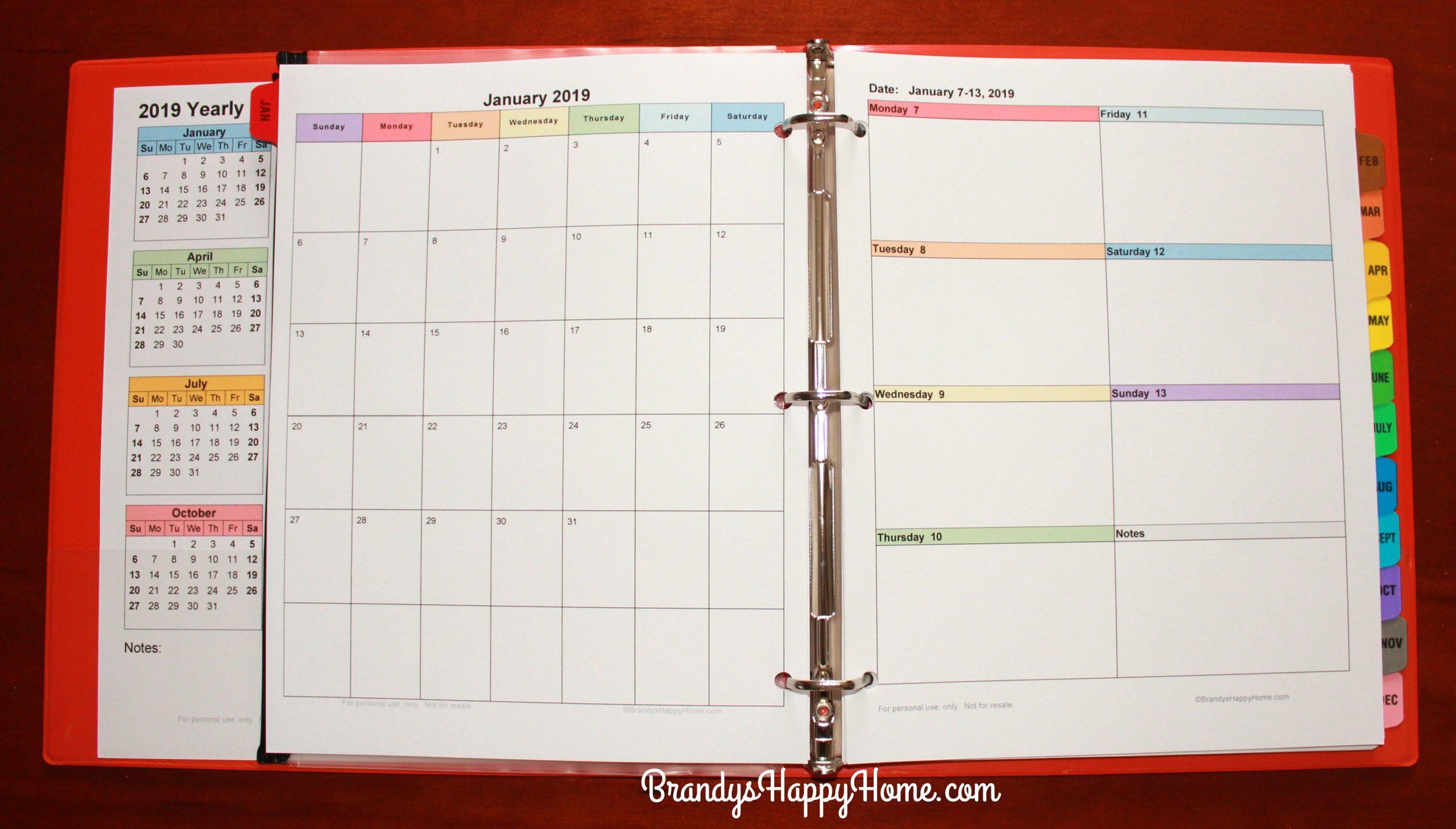 Free 2019 Diy Calendar Planner Printables Free Blank Calendar For One Week Printable