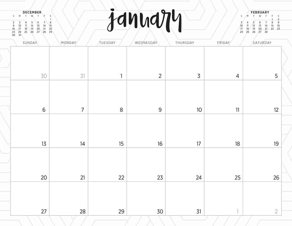 Free 2019 Printable Calendars – 46 Designs To Choose From! Print Free Calendars Without Downloading 2018