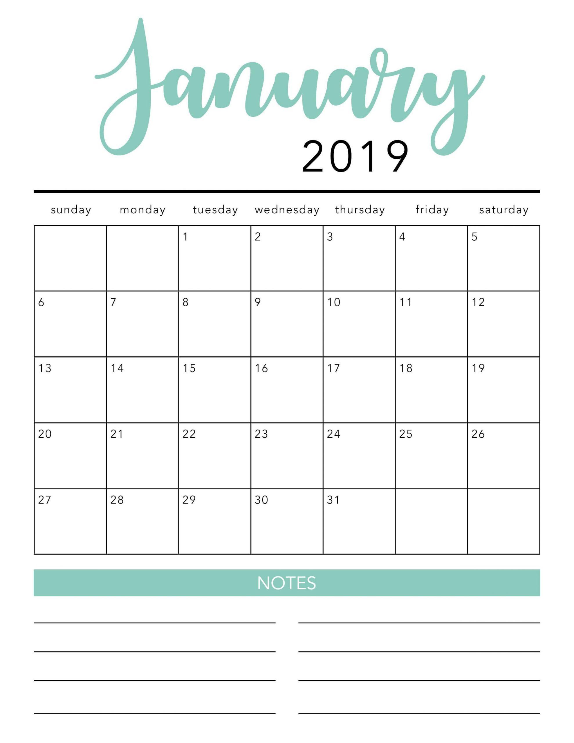 Free 2020 Printable Calendar Template (2 Colors!) – I 3 Month Calendar Template Printable