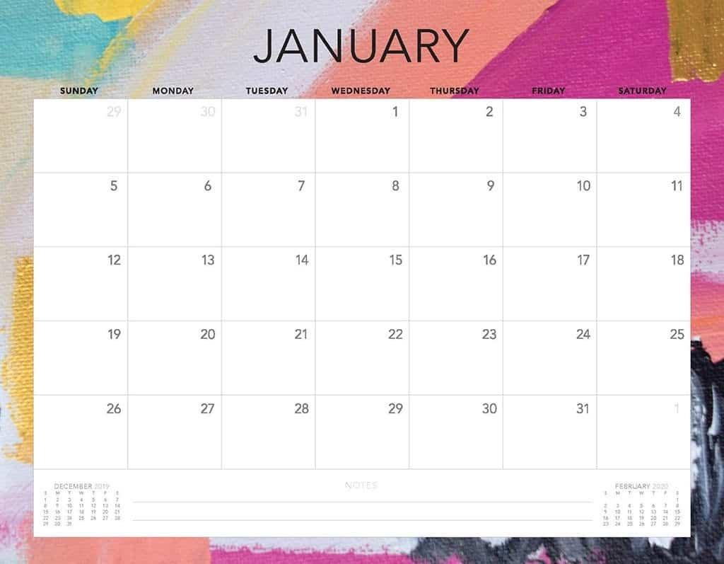 Free 2020 Printable Calendars – 51 Designs To Choose From! Free Printable Calendar Without Downloading