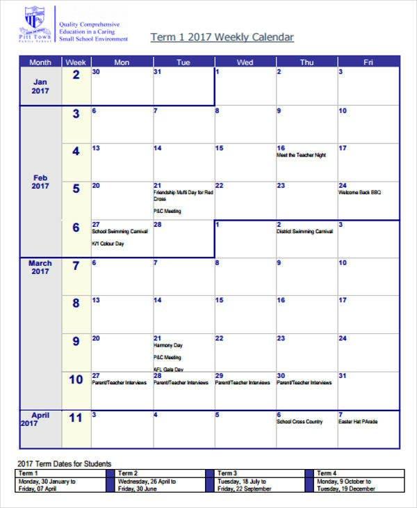 Free 25+ Blank Calendar Templates In Pdf   Ms Word 8 Week Calendar Doc