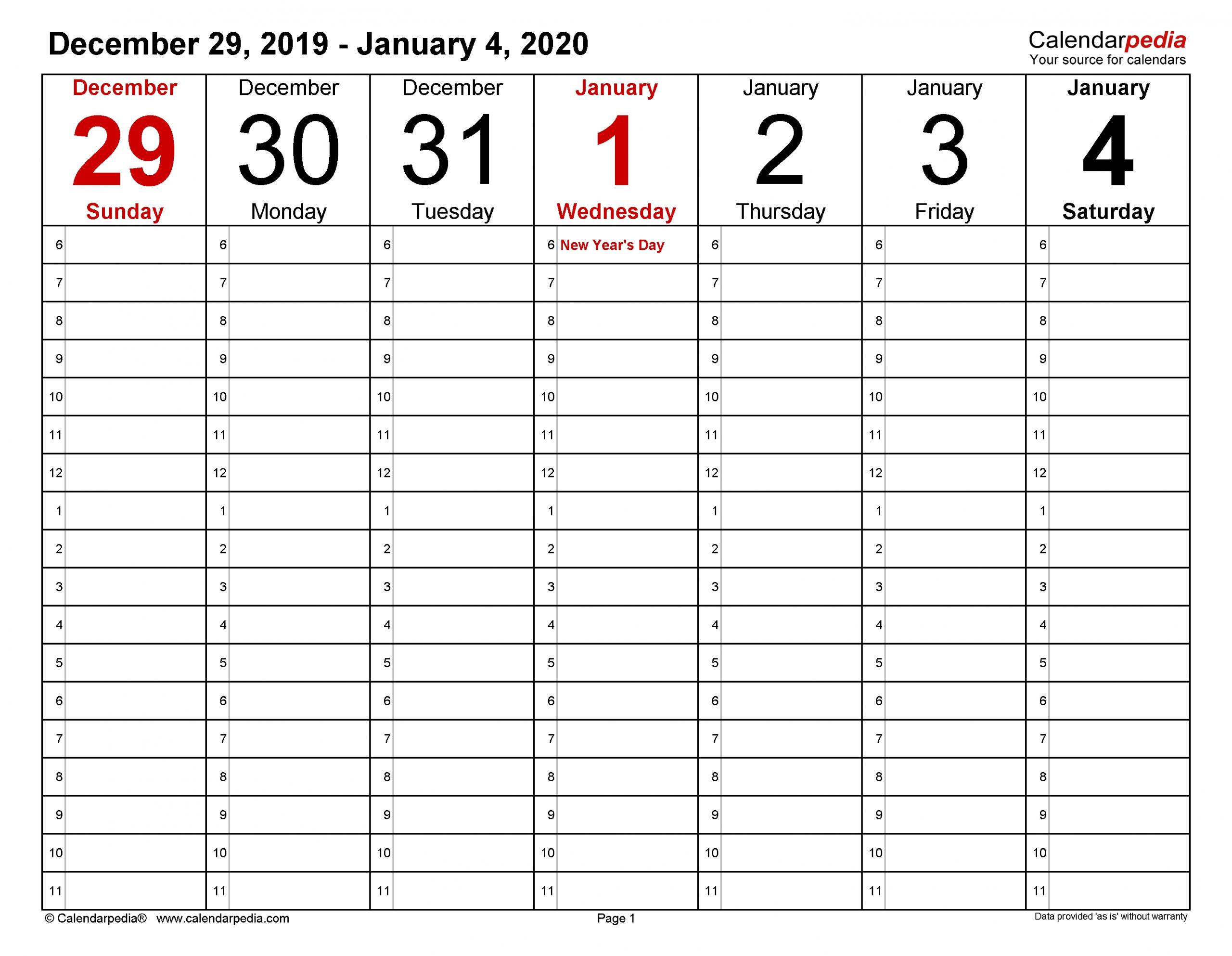 Free 4 Week Calendar | Month Calendar Printable Free 4 Week Calendar Templates