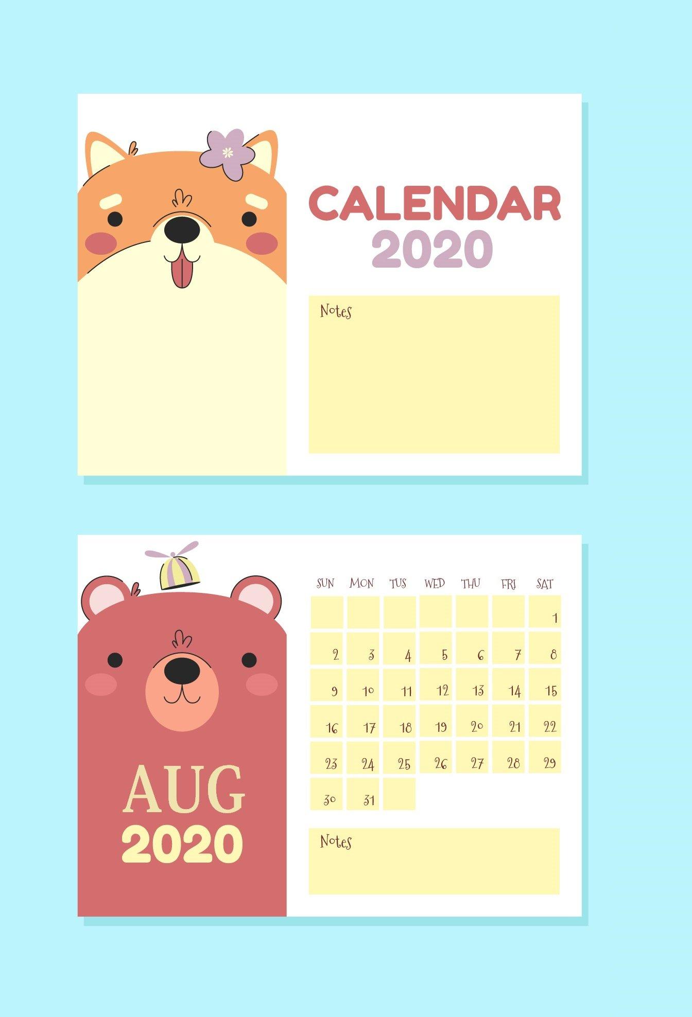 Free August 2020 Wall Calendar   Calendar 2020 Free 2020 Calendar With Days Counted 1 365