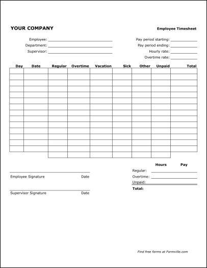 Free Bi Weekly Timesheet (Portrait) From Formville 2 Week Time Sheet Printable