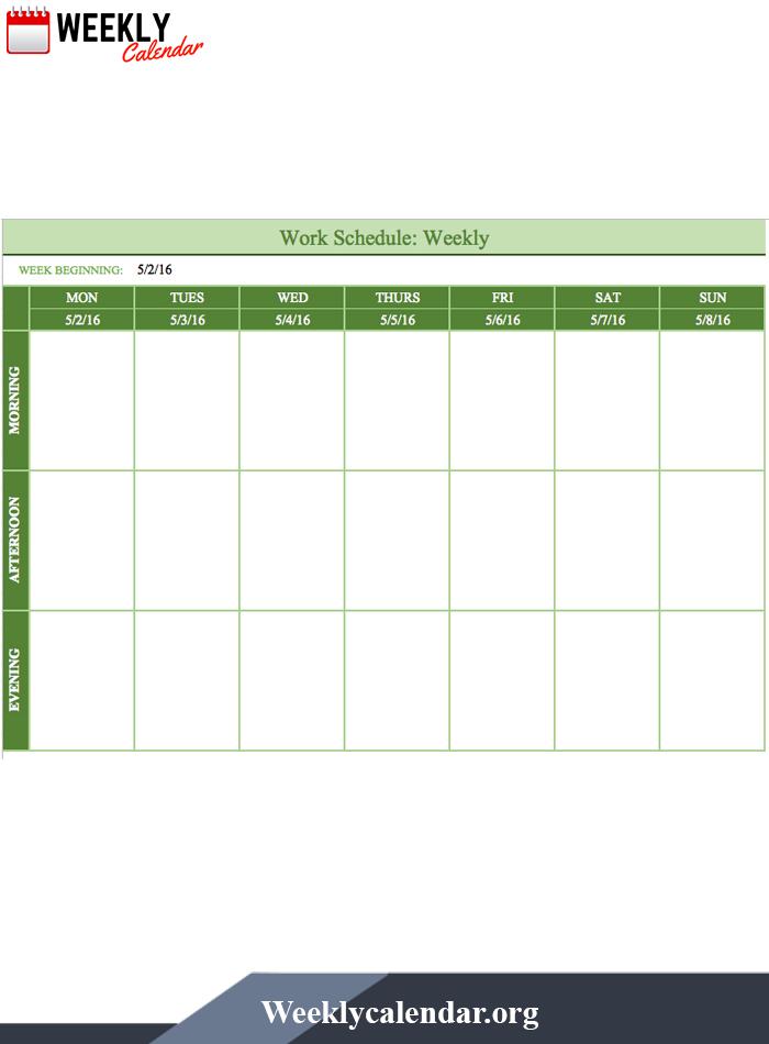 Free Blank Printable Weekly Calendar 2021 Template In Pdf 1 Week Calendar Pdf