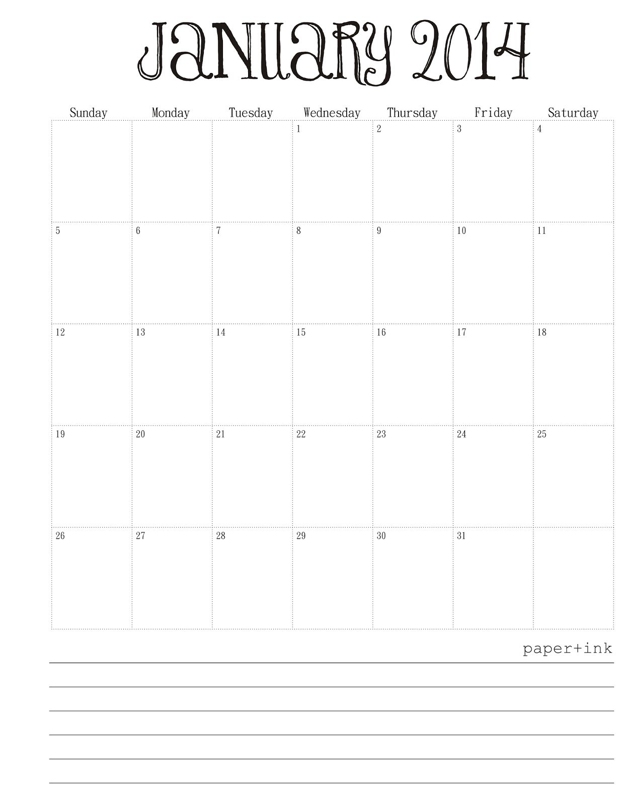 Free Calendar: January, 2014 Premade Calendar With Time Slots For April And May