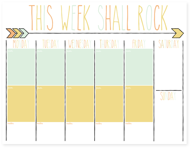 Free Daily And Weekly Planner Printables   I Should Be Printable 2 Week Calendar Template