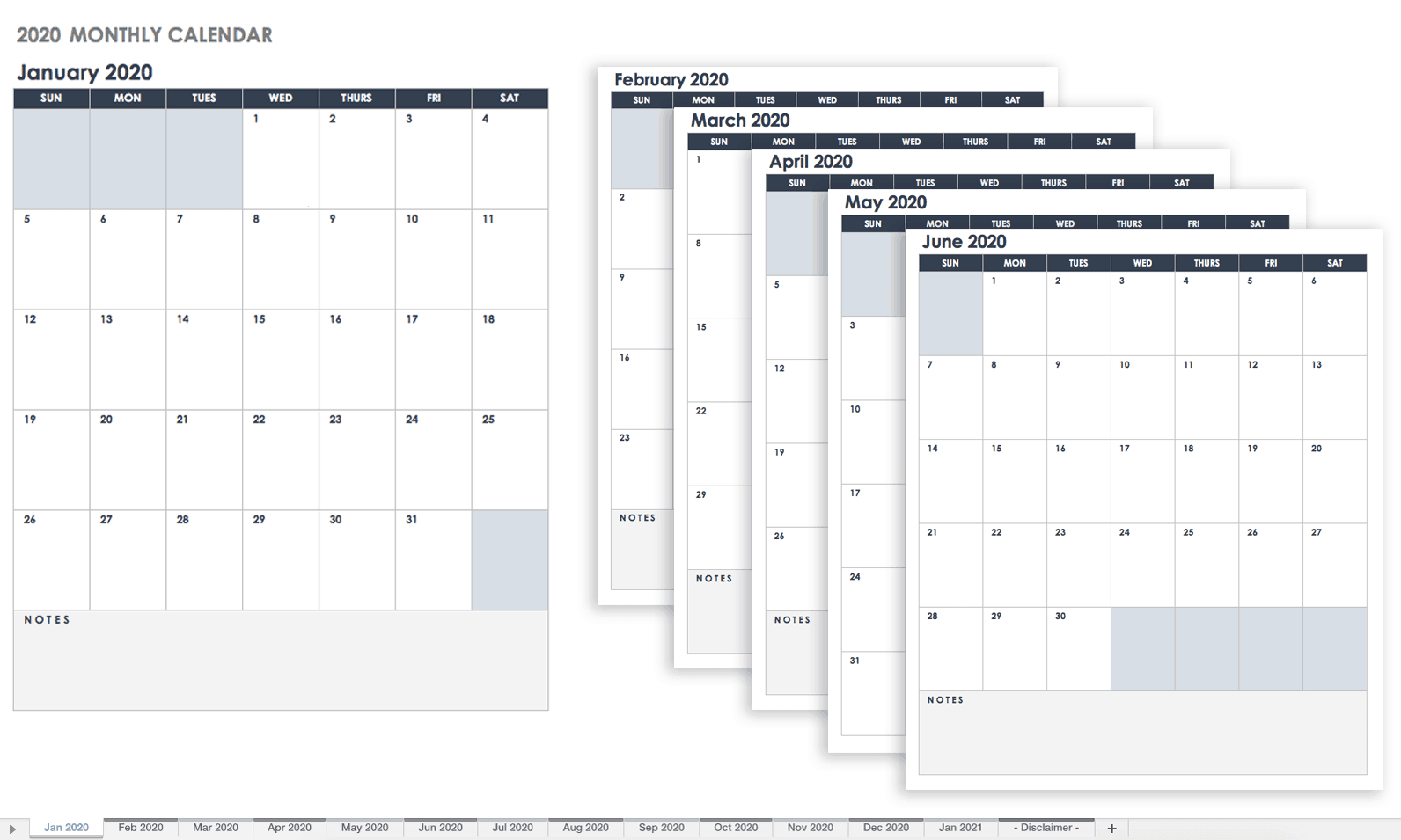 Free Google Calendar Templates | Smartsheet Calendars That You Can Fill In