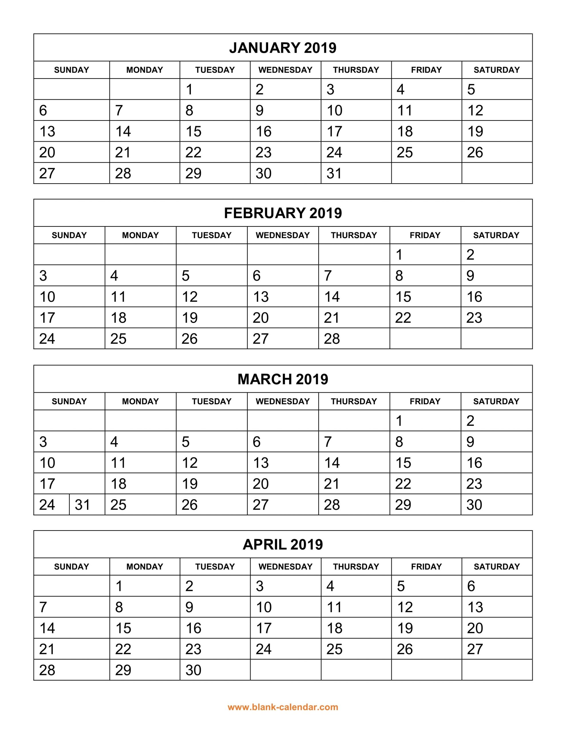 Free Printable 2020 Two Months Per Page Calendars 3 Month Free Calendar