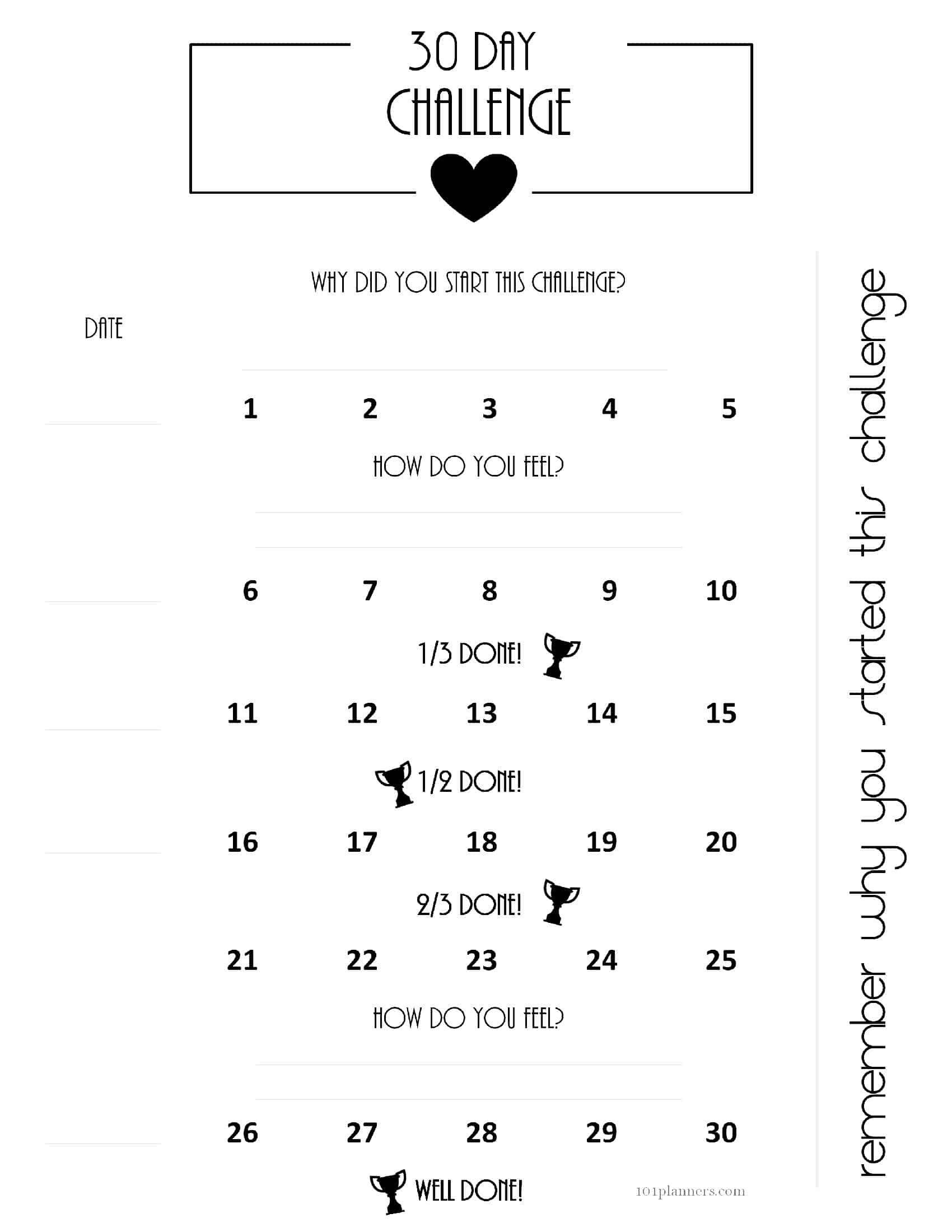 Free Printable 30 Day Calendars – Calendar Inspiration Design 30 Day Calendar Template