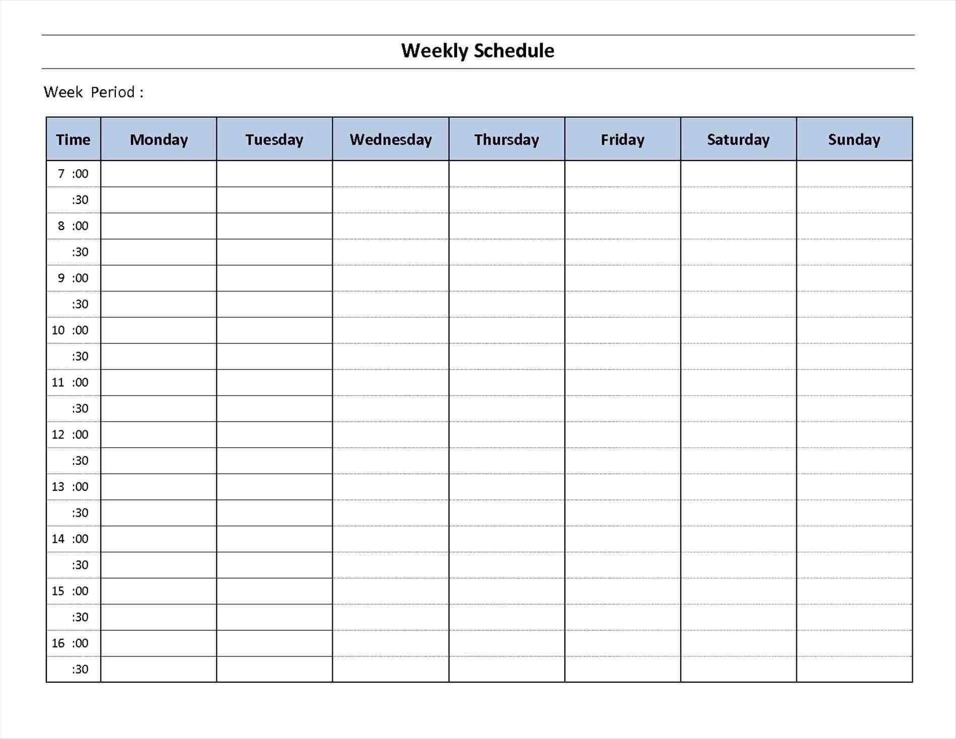 Free Printable 7 Day Weekly Calendar   Month Calendar 7 Day Calendar Template Printable