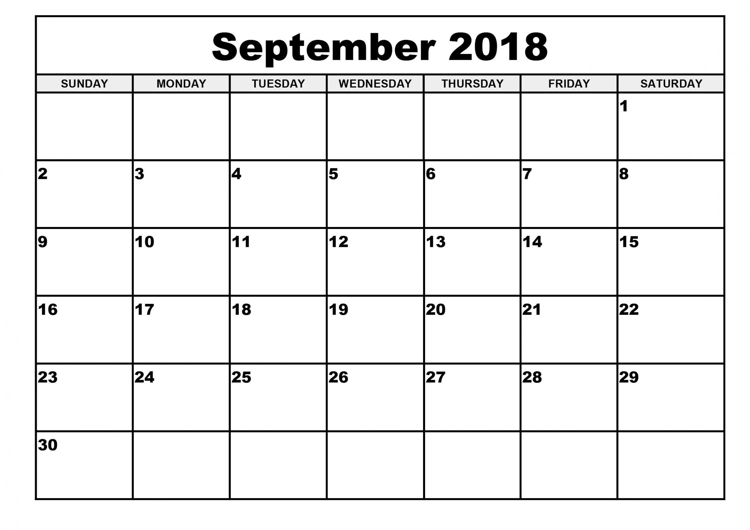 Free Printable Calendar 2018 Template   Printable Calendar Free Blank Calendar For One Week Printable