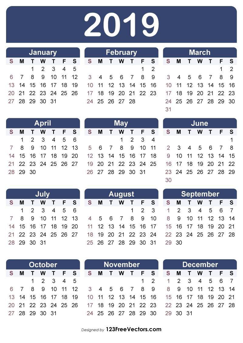 Free Printable Calendar 2019   Free Printable Calendar Calendars You Can Modify