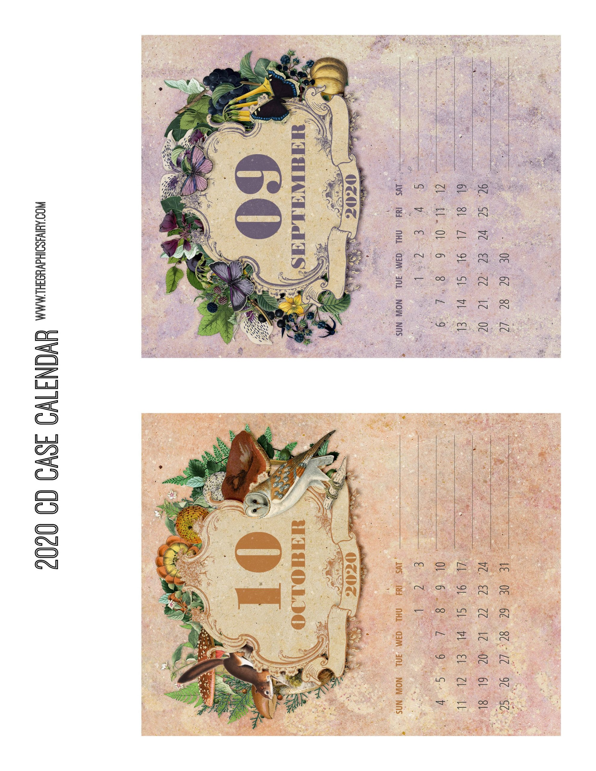 Free Printable Calendar 2020 – Cd Case Calendar! – The Free 2016 Calendar With Room For Taking Notes
